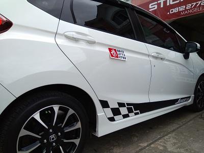 Cutting Stiker Mobil Jazz Rally Di Bandung Mangele Stiker