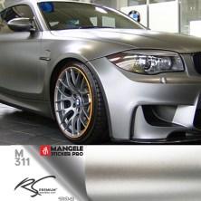 M311 Platinum Silver chrome metallic matte RS Premium wrapping
