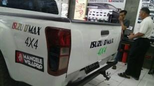 Stiker Mobil Bandung Cutting Isuzu D'max mangele