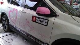 stiker mobil bandung cutting crv bunga mangele