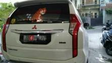 stiker mobil bandung pajero kap mesin carbon mangele