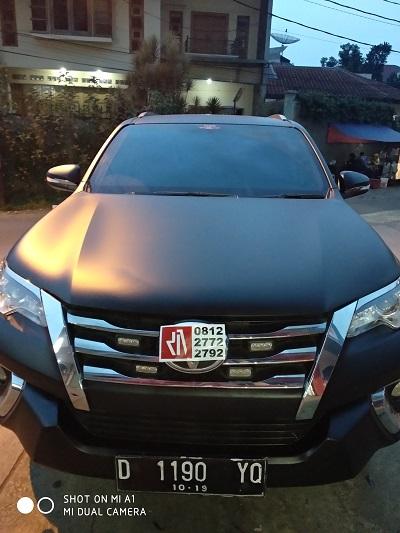 wrapping stiker mobil | Hitam Doff Stiker Fortuner di Bandung | mangele stiker 081227722792