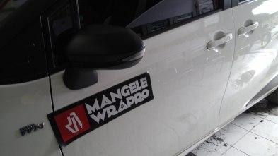 wrap atap molding spion hitam doff rs premium mangele stiker