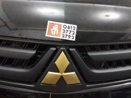 pajero chrome hitam doff logo gold matt spion hitam gloss