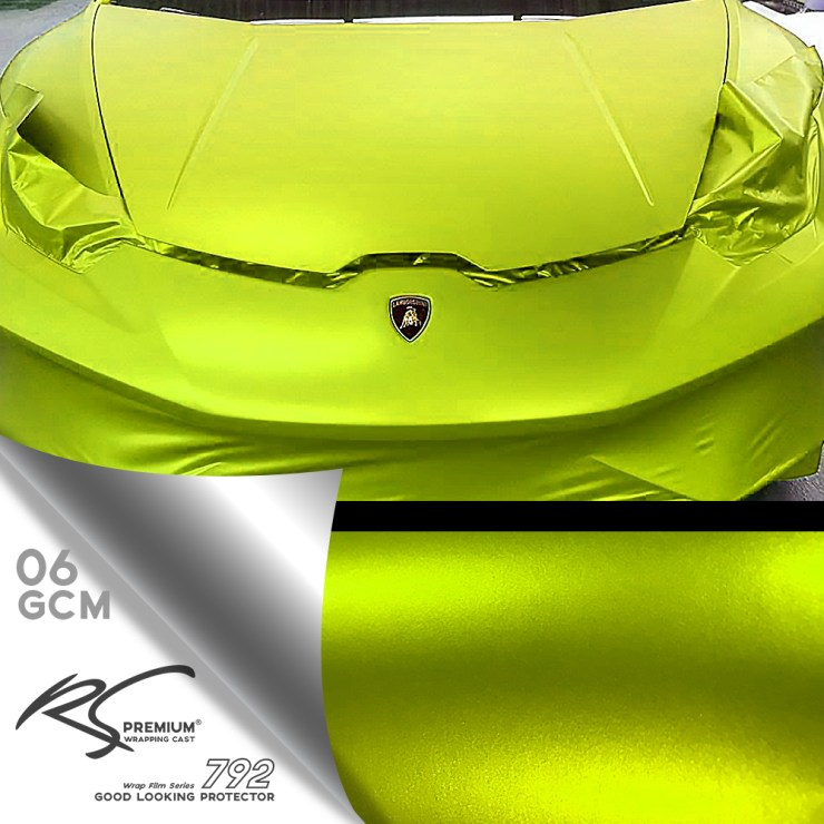 GCM-06 Lime Green chrome metallic matte