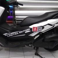 wrapping stiker motor | nmax hitam putih | mangele stiker 081227722792