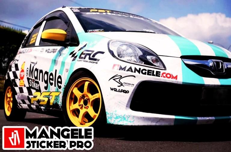 Gaya Keren Stiker Mobil Racing Mangele Premium Bandung