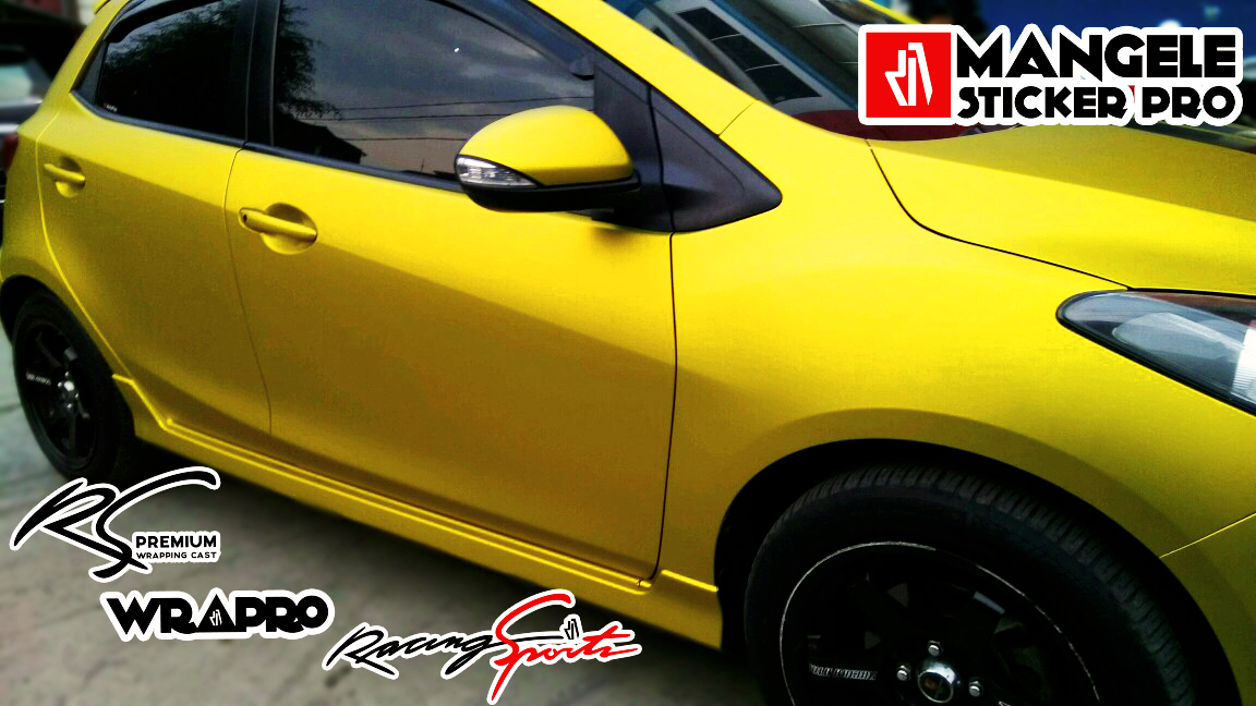 Yellow Gold Metallic Series Mangele Sticker Mobil Premium