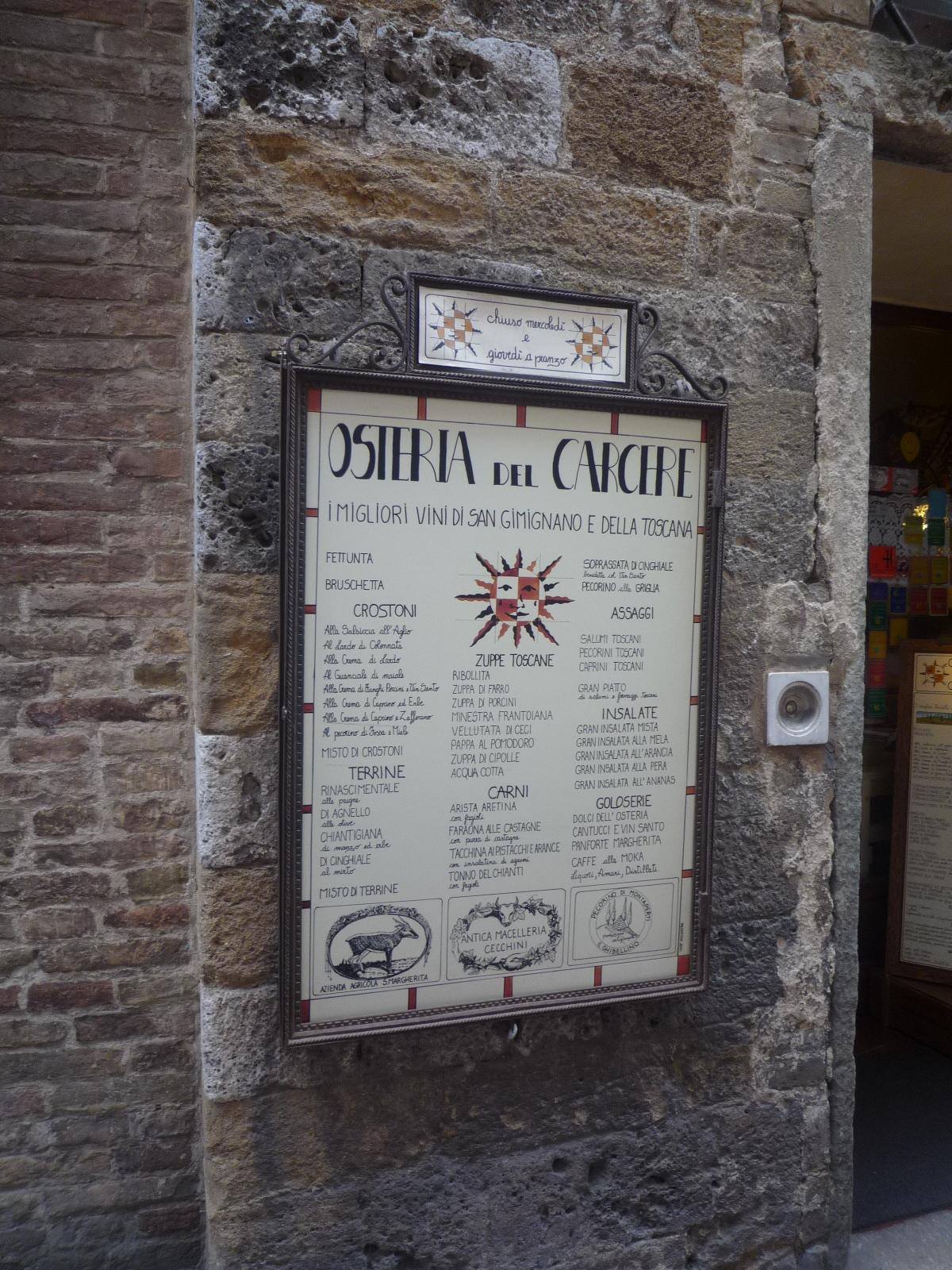 Aldo in Toscana  San Gimignano  Mangiamo con Aldos Blog