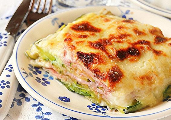 Parmigiana Light Con Zucchine E Prosciutto Cotto