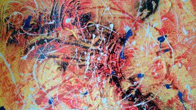 Lux | tecnica mista | 50x70 cm |Francesca CISKA CItarella
