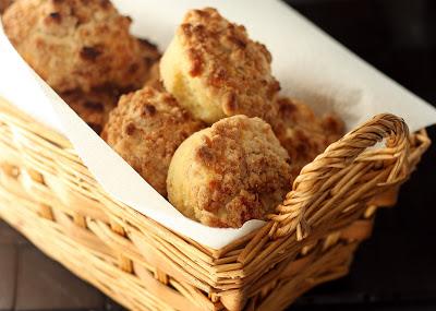 White Chocolate Crumb Muffins.