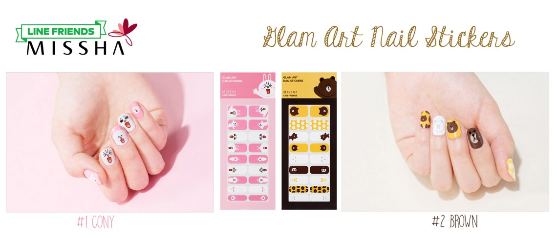 missha-line-friends-edition-glamart-nail-stickers