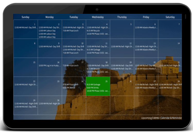 Mango-Display-Calendar-widget