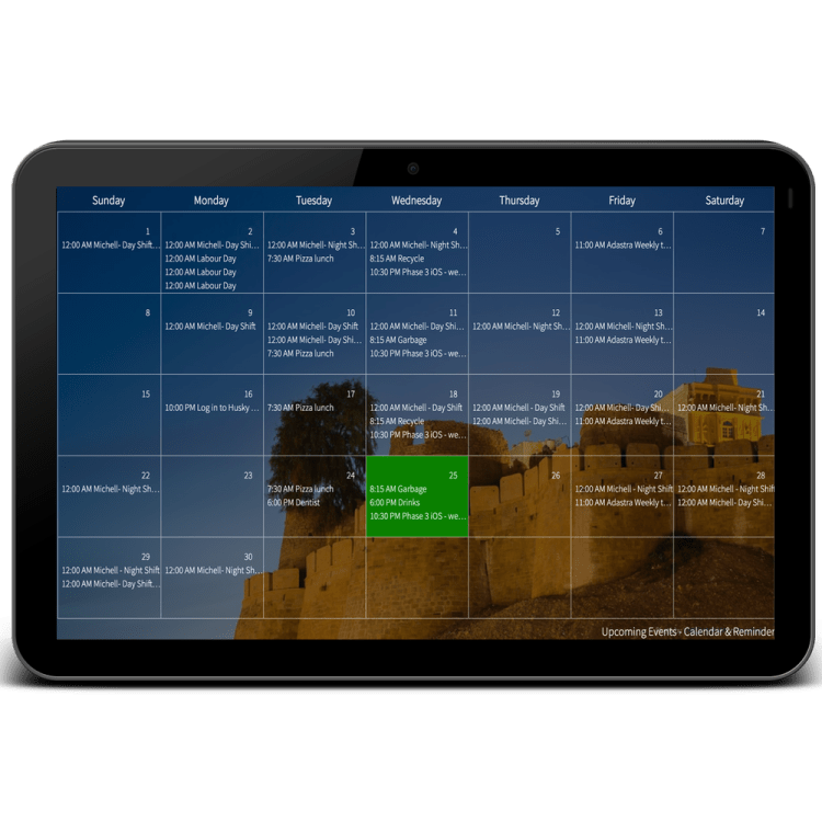 digital wall calendar