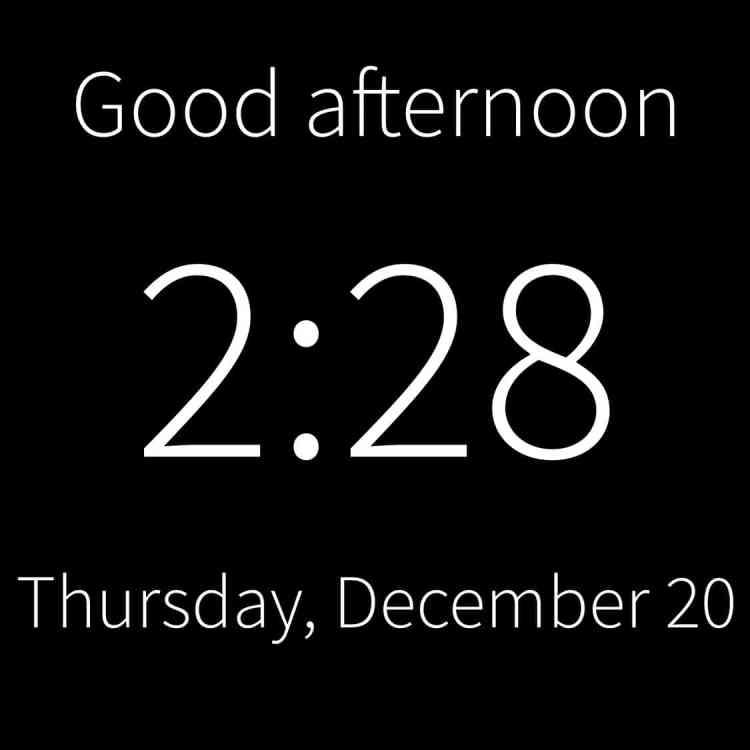 reminder clock for elderly