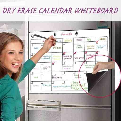 a dry erase calendar