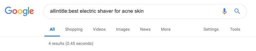 allintitle acne