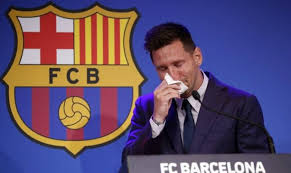 Messi ya yi hawaye saboda alhinin ficewa daga Barcelona