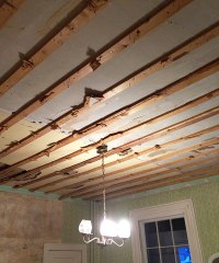 The Dining Room Ceiling. Oops! | Manhattan Nest