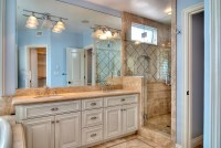 Dual Master Bathroom Sinks and Glass Shower ...