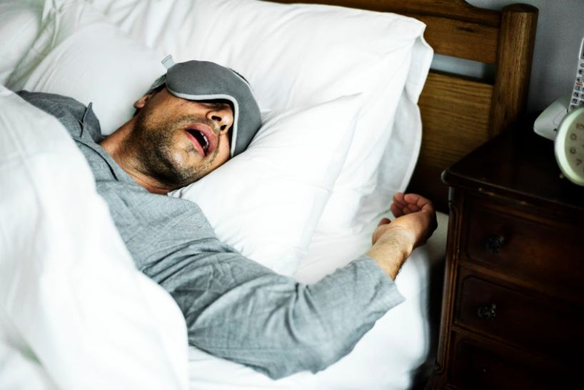 man who has completed successful insomnia treatment