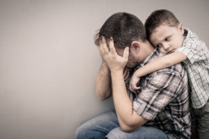 Child with separation anxiety