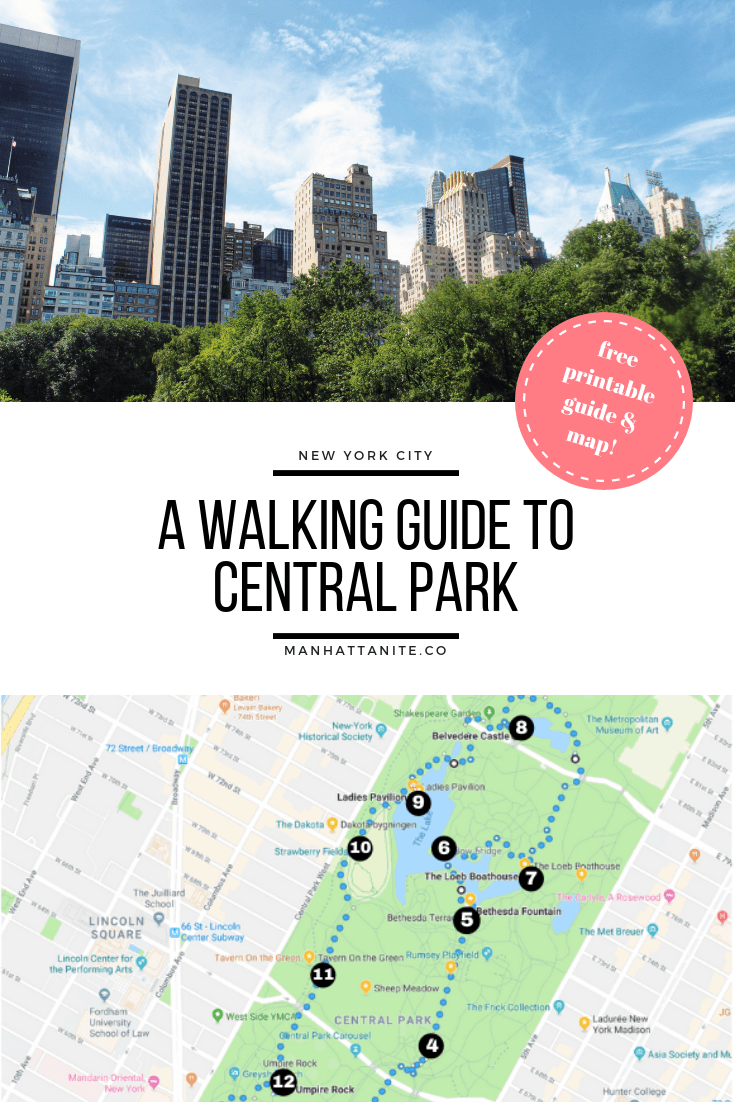 Central Park is huge, so it can be a good idea to have a plan whenever you're visiting this marvelous gem. Check out my free printable guide & map here!