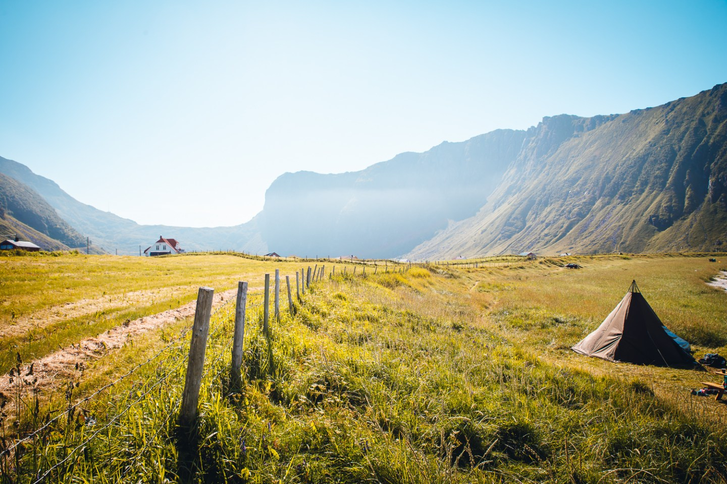 Unstad Beach in summer - one of the best time to visit Lofoten Islands