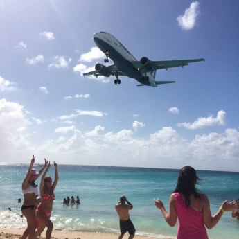For a thrill activity in St Martin, check out Maho Beach.