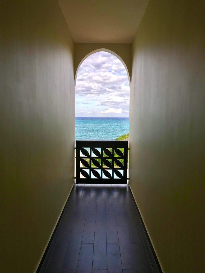 The spa at the Melia Zanzibar overlooks the Indian Ocean.