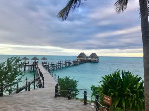 The Jetty is a great place for pre or post dinner drinks at the Melia Zanzibar.