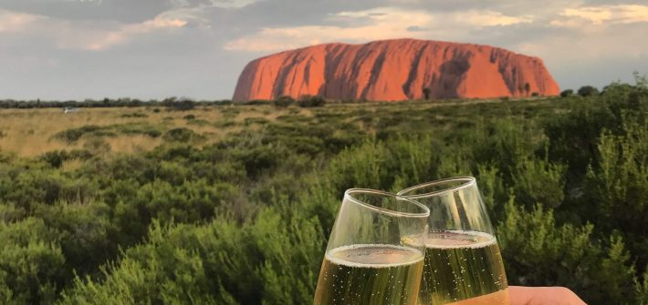 Watching the sunset over Uluru is a once in a lifetime experience with Adventure Tours.