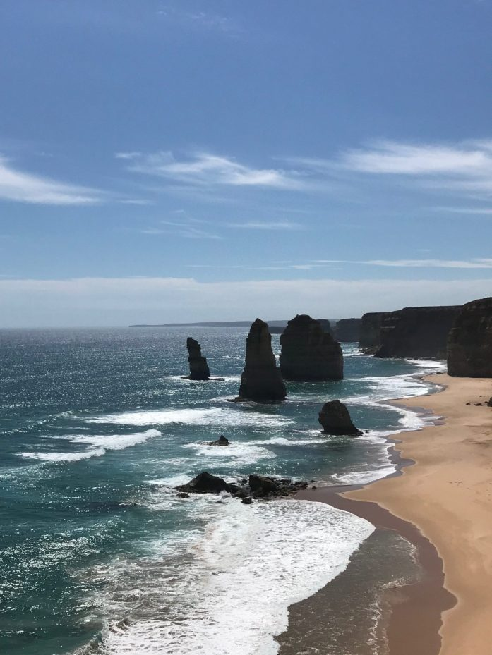 Don't miss the 12 Apostles along the Great Ocean Road on your month long trip around Australia.