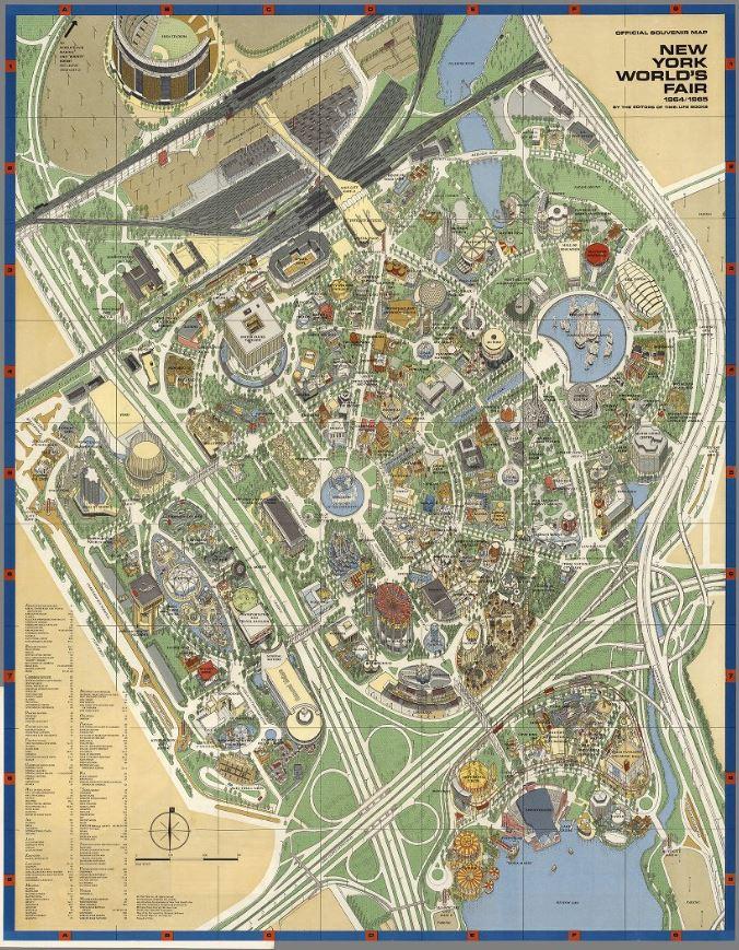1964 World's Fair Map - Manhattan Women's Club on