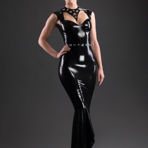 Pin Stripe Dress_Aries_Maniac Latex