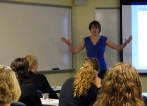 Laura Bergells teaches