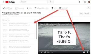 closed captioning YouTube