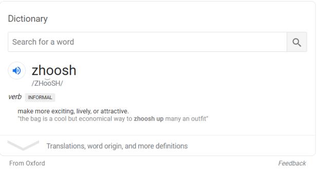 the word Zhoosh