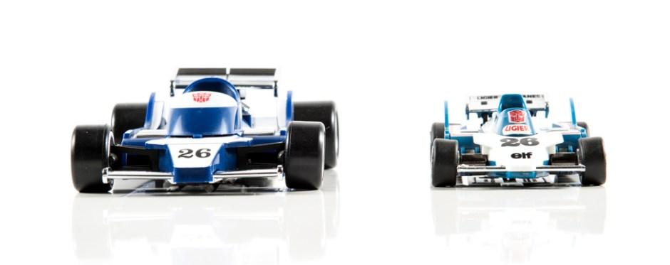 masterpiece mirage dx9 invisible transformers comparison mp g1 race car f1 ligier js11