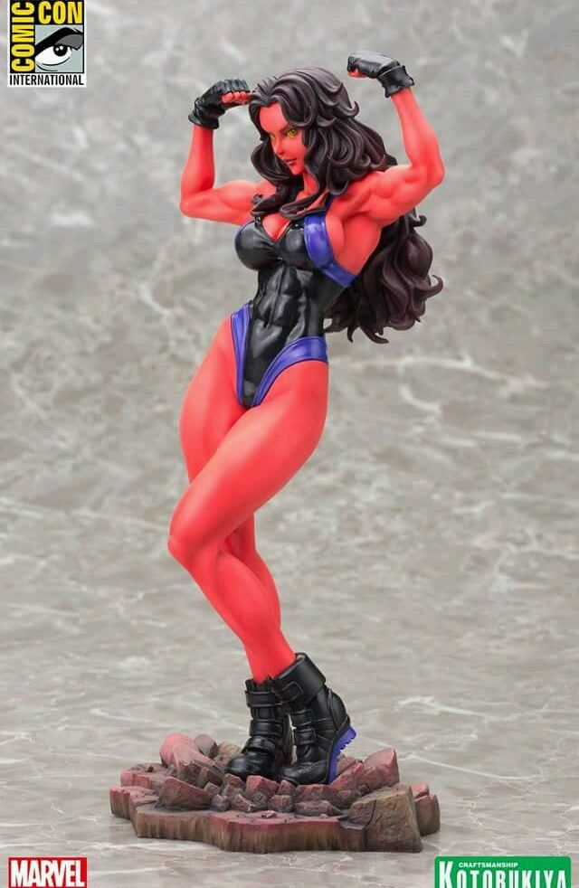 sdcc 2015 marvel kotobukiya red she-hulk iso