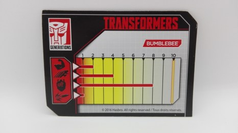 Transformers Generations Titans Return Bumblebee card-tech-specs