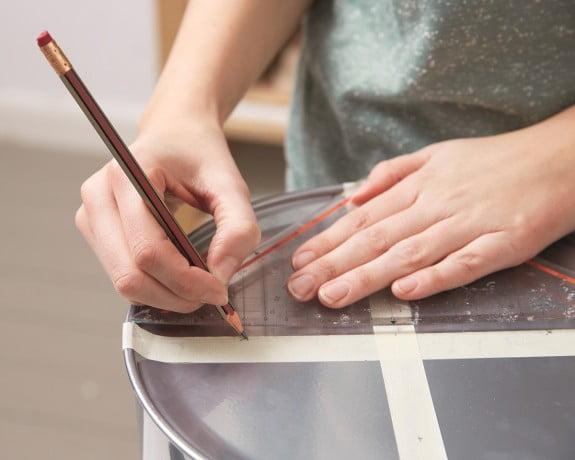 como fazer estante marcações Como fazer estante com baldes