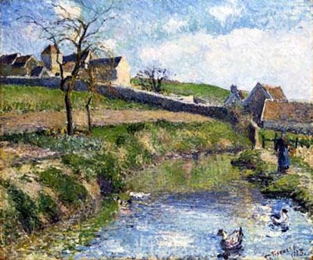 Granja en Osny - Camile Pissarro 1885