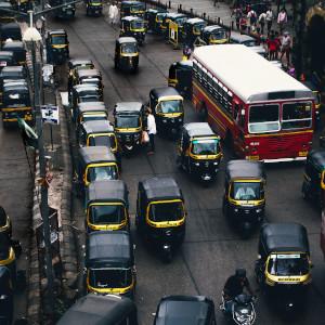 Mumbai Auto-Rickshaw Traffic