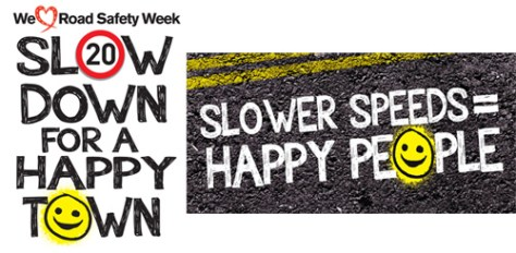 Road Safety - Slower speed Happy People