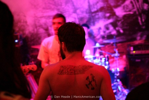 a back tatoo showing city pride