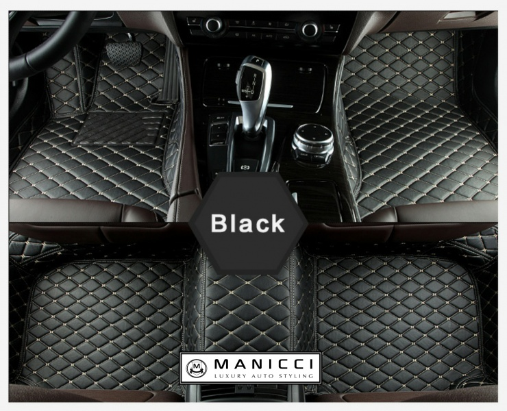 Manicci Luxury Custom Fitted Car Mats  Black Diamond
