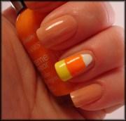 candy corn manicure mania