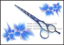 Hair Cutting Scissors, Hair Cutting Shears, Blue Coated6
